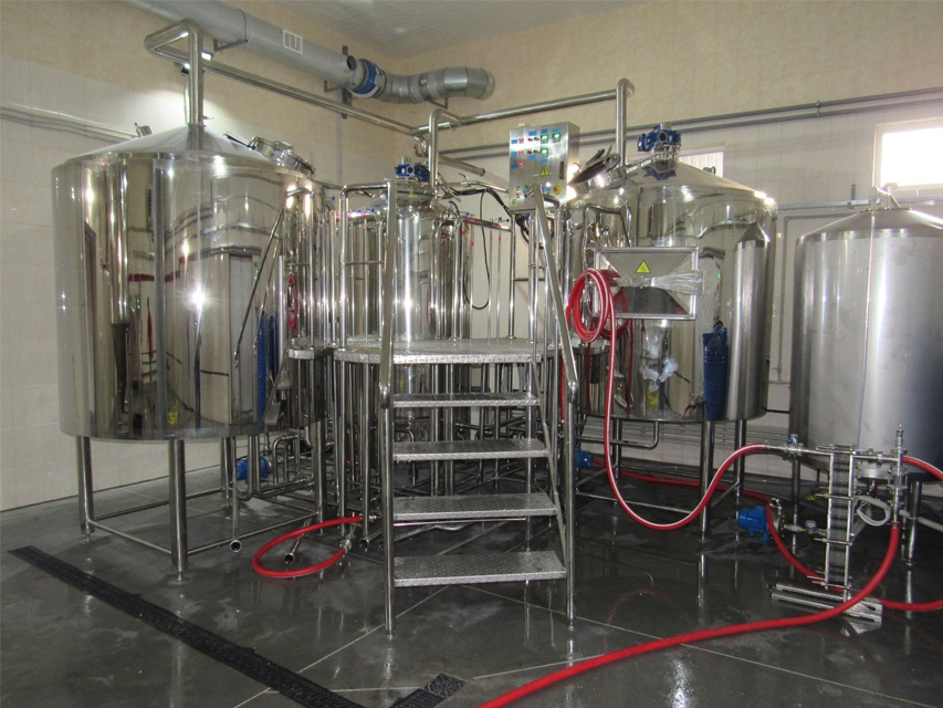 Three-vessels brewhouse for 10-12 Hl per brew