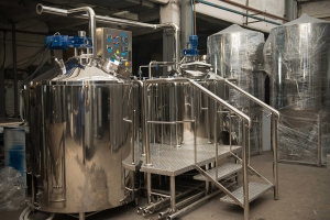 Two-vessels brewhouse for 500-600 l. of wort per brew
