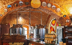 Microbrewery in action (Stare Misto Pub)